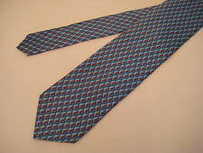 Berend DeWitt Italy 100% Silk Neck Tie - Blue/Red/Gold from Syd Jerome