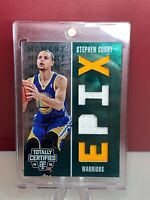 2014-15 Totally Certified EPIX Moment Quad Memorabilia Green #8 Stephen Curry RC