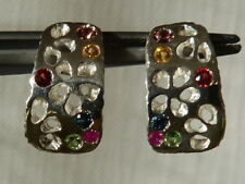 Only on demand, earrings 925 silver,sapphire,ruby,tanzanite