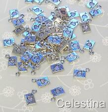 20 x Tibetan Silver Alice In Wonderland Ace of Hearts Charms - Cards Charm