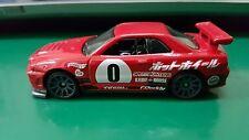 "Hotwheels Nissan Skyline R34 ""Need For Speed"" (Red) 'Kaido House' unrivet JDM"