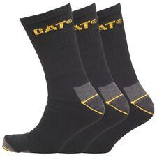 Mens Black CAT Long Caterpillar Crew Work Socks Boot Multi-Pack Size 6-11& 11-14