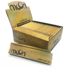 New MOON Super Slim Size Unbleached Cigarette Rolling Paper 1600 leaves Smoking