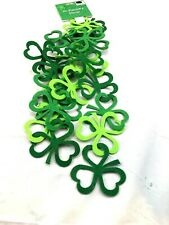 5 ft felt Shamrock Garland St. Patrick's Decor NWT