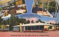 Linen Postcard Harvest House Restaurant U.S. 17 in Savannah, Georgia~109933