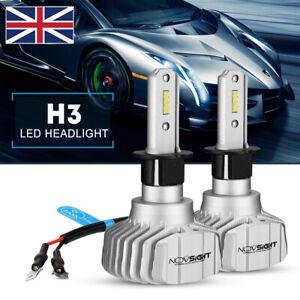 NOVSIGHT 50W 10000LM/Pair H3 CSP Y19 LED Headlight Bulbs Car Hi/Low Beam Lamps