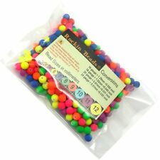 350 Neon Acrylic Spacer Mix Beads 8mm Round (1.4mm Hole)