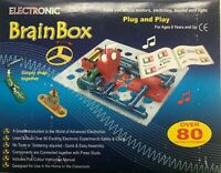 SNAP CIRCUITS BRAINBOX KIT 80  EXPERIMENTS MOTORS SWITCHES SOUND &LIGHTS AGES 6+