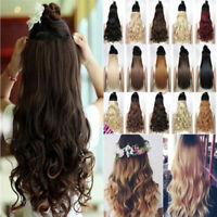 Straight Wavy Curly 3/4 Full Head Clip in Hair Extension One Piece 5 Clips UK