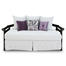 """16"""" DAYBED WHITE FULL SIZE 54""""  DEEP TAILORED  BED SKIRT  SPLIT CORNERS"""