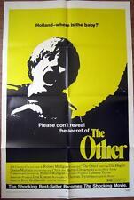1972 THE OTHER ~ PSYCHO THRILLER ~ UTA HAGEN  ~MOVIE POSTER 1 SH OR