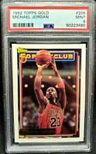 Michael Jordan 1992 Topps Gold #205 PSA 9 Mint HOF Chicago Bulls 1992-93