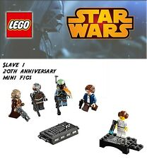 LEGO Star Wars Slave 1 20th Anniversary Edition Mini Figs Boba Fett leia han