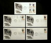 US STAMPS Scott #1565-68 UNIFORMS OF THE ARMED FORCES 1975 FDC ARTCRAFT COVER