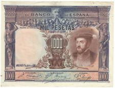 Espagne billet 1000 pesetas 1925  / Spain bank note / Billete España Carlos I