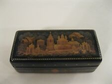 Russian Lacquer Trinket Box Hand Painted - Rare - SOLD AS IS