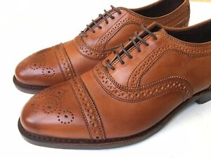 Allen Edmonds Bartlett Strand Brown Leather Cap Toe Independence Size 8.5 D $550