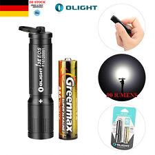 Olight I3E EOS AAA Taschenlampe 90 Lumen CREE LED Mini Schlüsselanhänger Schwarz