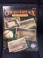 1985 Chicago White Sox Baseball  program/yearbook 75 years at Comiskey
