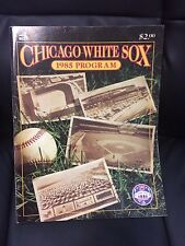1985 Chicago White Sox Baseball  program/yearbook 75 years at Comiskey