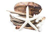 Driftwood, coconut, coral, shell and starfish decorative pack