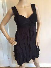 Alexander Wang Size Black Dress Vgc Size 4 Uk 8/10 100% Silk Bust 100% Wool