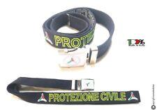 Cintura Cinturone Canapa Ricamo Fluorescente Protezione Civile Nazionale New
