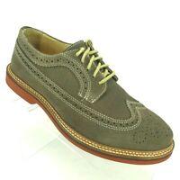Nordstrom 1901 Men's Oxford Shoes US 8.5M Tan Wingtip Suede Brogue Derby Casual