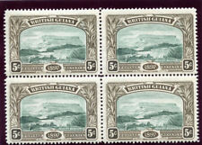 British Guiana 1898 QV Jubilee 5c green & sepia block MNH. SG 219. Sc 154.