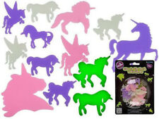 Glow in the Dark 14 Plastic Unicorn Shapes Kids Ceiling Wall Bedroom Decoration