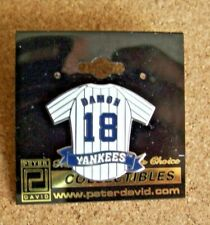 Johnny Damon NY New York Yankees pinstripe jersey lapel pin 2006 MLB