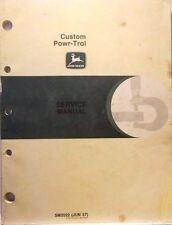 John Deere, Service Manual, Custom Powr-Trol, June 1957 Original MC