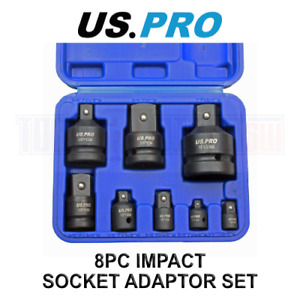 US PRO Tools 8pc Impact Adaptor Set, Reducer for Sockets, Wrench 3477