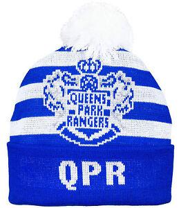 Queens Park Rangers JAC Snowboard Ski Football Bobble Hat QPR Thick Wooley Hat