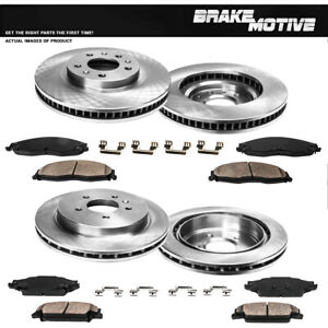 Front Rear Rotors Ceramic Pads For 2003 2004 2005 2006 2007 2008 Cadillac CTS