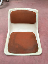 Ancienne assise chaise plastique design 70's DLG KNOLL SAARINEN french antique