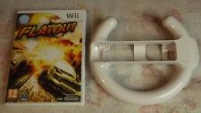 Flatout + Volant officiel - jeu Nintendo WII WII U / Speel  / Game
