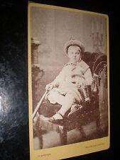 Cdv old photograph boy spade bucket by Gregson Halifax & Blackpool c1870s