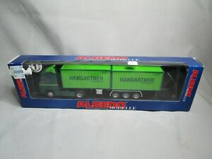 AR340 ALBEDO Ho 1/87 CAMION SEMI REMORQUE HANGARTNER VERT  REF 300187