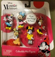 New!! Disney Minnie Mouse Bowtique mini figurines Styles Through the Years