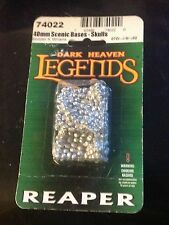 40mm Scenic Bases- Skulls (Reaper Dark Heaven Legends 74022) New in Package