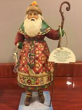 "Jim Shore ""Yuletide Greetings"" Santa with Skates Figurine 4005296"