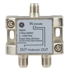 GE 73246 2-Way Video Splitter Ultra-High Quality Signal Strength Retention