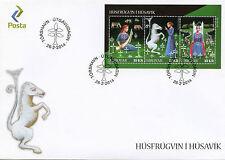 Faroe Islands 2014 FDC Lady of Husavik 3v M/S Cover Mythology Unicorn