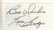 Ken Hodge Autographed Index Card Former Bruins & Black Hawks Nhl Hockey Player
