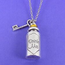 DRINK ME BOTTLE CHARM NECKLACE alice in wonderland disney classic vintage retro