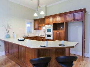 Kitchen in solid timber with appliences