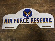 VINTAGE ORIGINAL AIR FORCE RESERVE LICENSE PLATE TOPPER