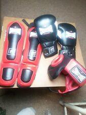 Mma Combat Corner Shin Guards Head Gear Gloves Set Pads Combat Sport