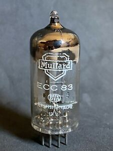 RARE STRONG EARLY MULLARD ECC83 LONG PLATE SQUARE GETTER mC1 1955